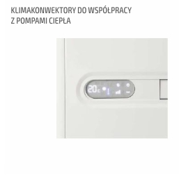 klimakonwektory do współpracy z pompami ciepła