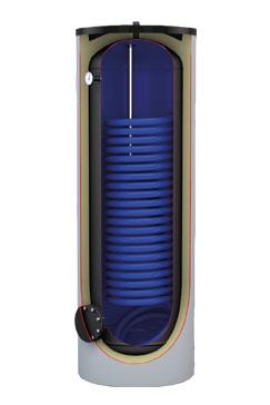 Emaliowane 150 do 500L - z jedną wężownicą MAXI do pomp ciepła