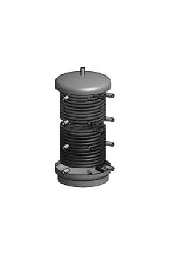 Zbiorniki Buforowe OEM BLACK Z dwiema wężownicami 600 do 2000L