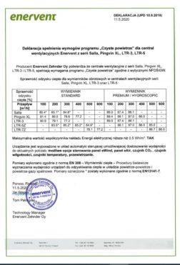 Deklaracja SALLA PINGVIN XL LTR-3 LTR-5 LTR-7